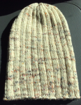 finished ribbed hat